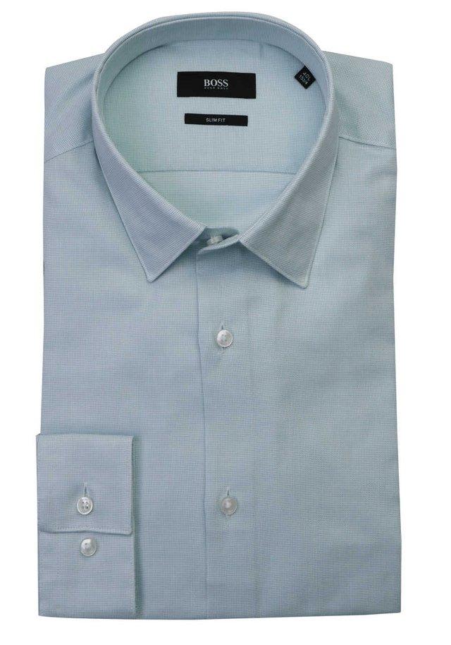 BOSS SLIM FIT HEMD ISKO LANGARM BAUMWOLLE STRUKTUR MINT - Shirt - light green