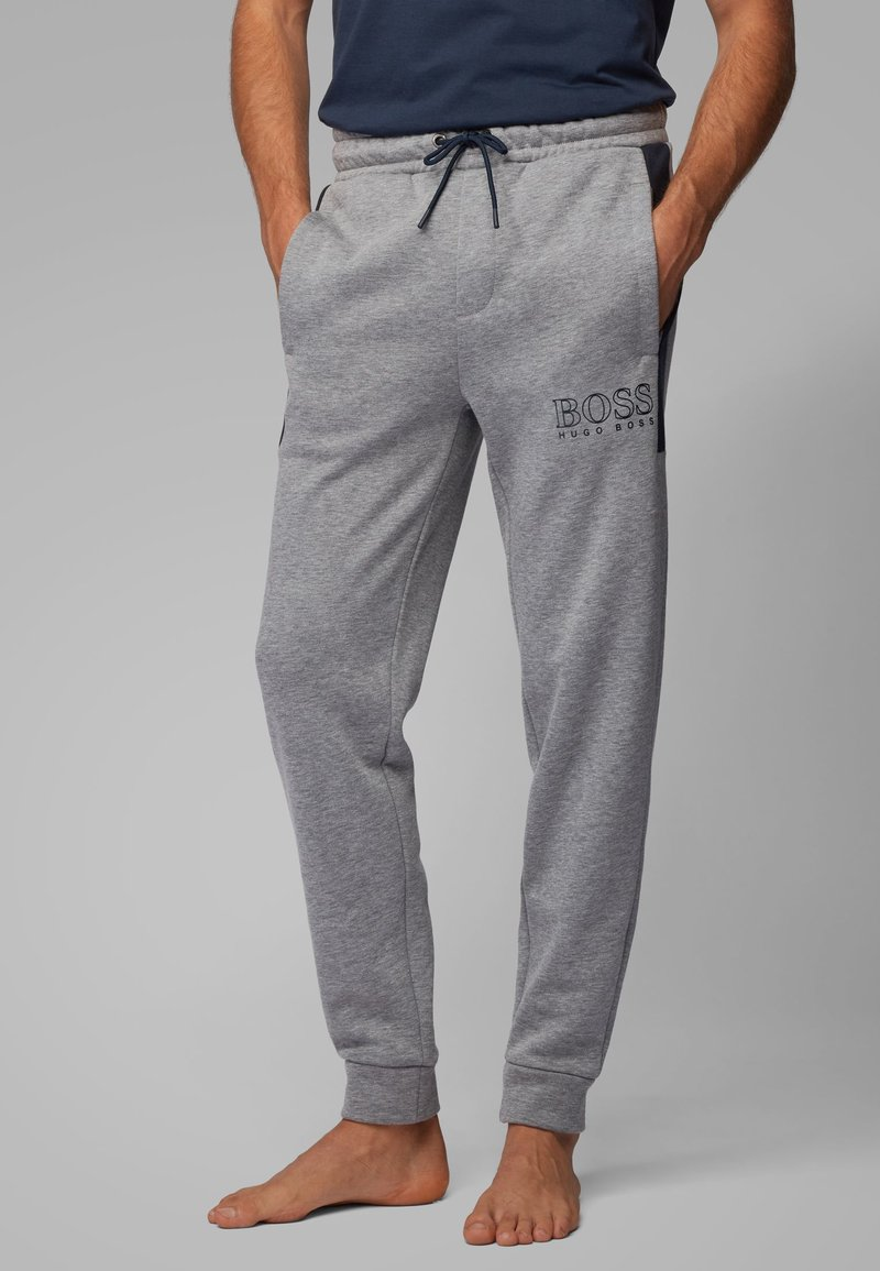BOSS - Pantaloni sportivi - mottled light grey