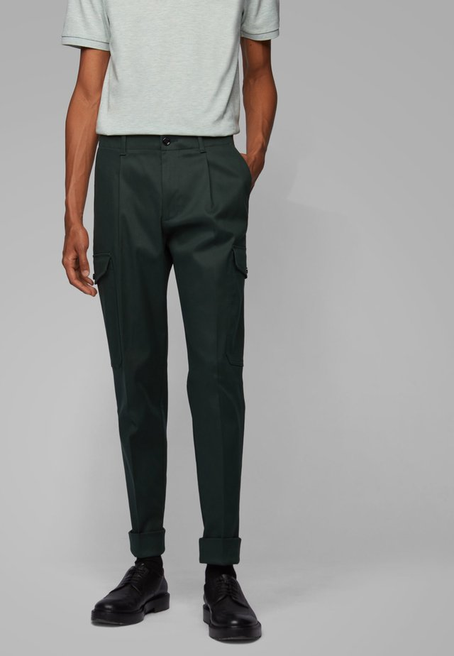 KIRIO PLEATS - Pantaloni cargo -  green