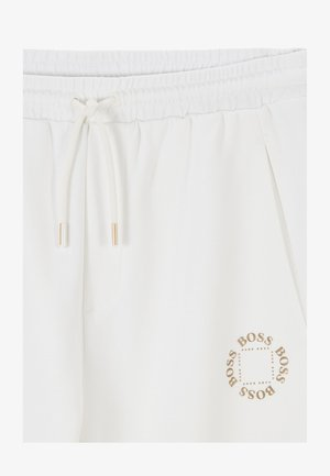 HALBOA CIRCLE - Tracksuit bottoms - white