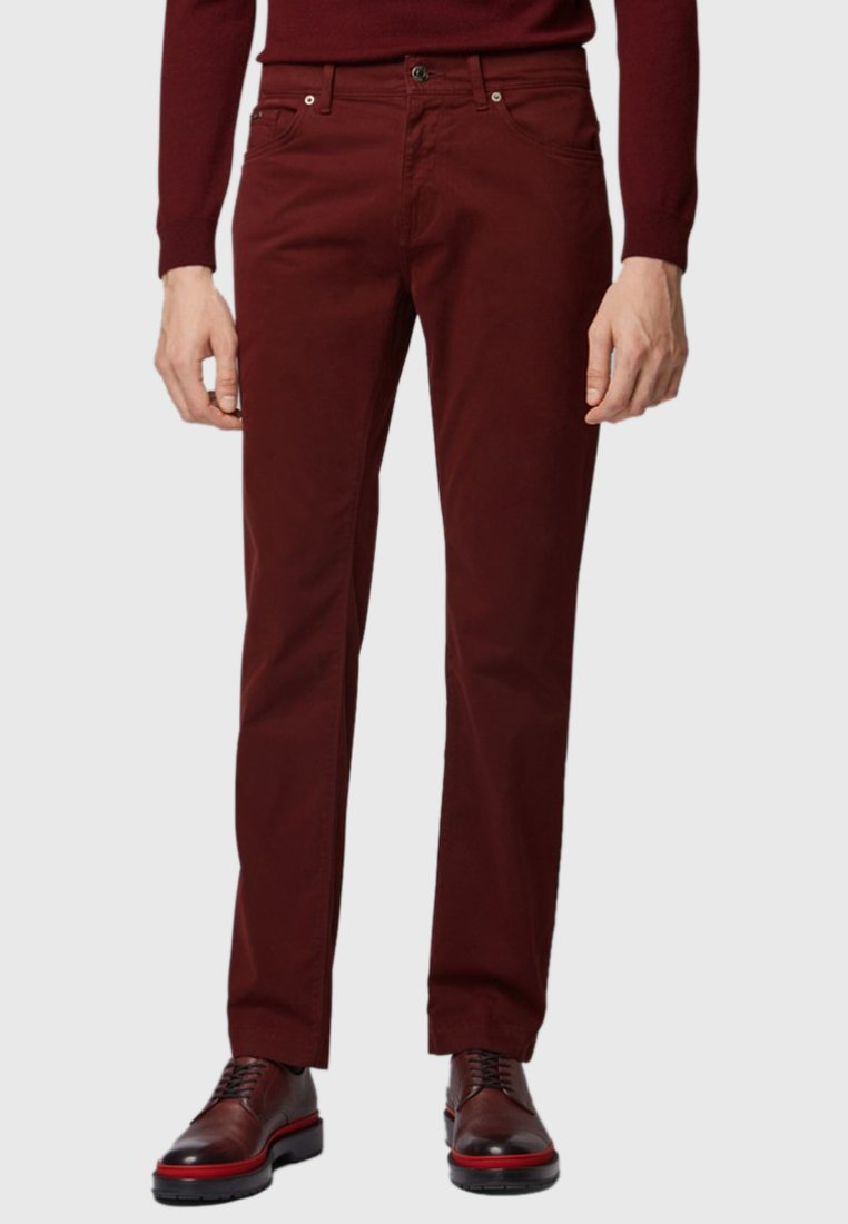 BOSS - MAINE - Straight leg jeans - red