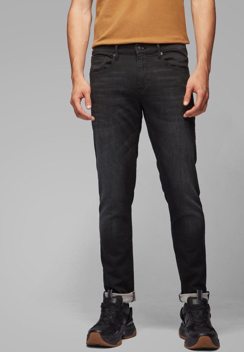 BOSS - CHARLESTON  - Slim fit jeans - black