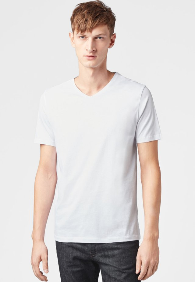 "BOSS HERREN T-SHIRT ""CANISTRO 80"" REGULAR FIT - Basic T-shirt - white"