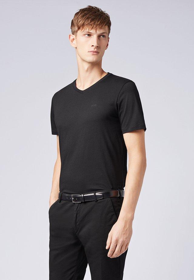 """BOSS HERREN T-SHIRT """"CANISTRO 80"""" REGULAR FIT - Basic T-shirt - black"""