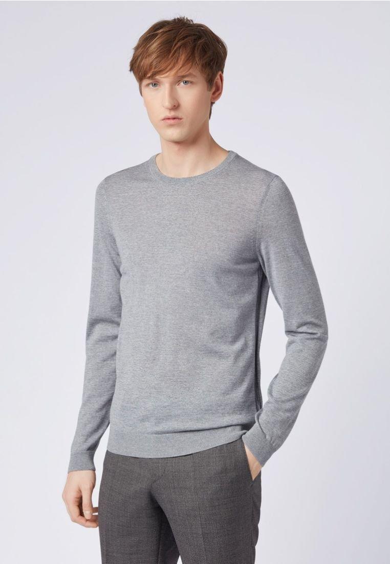 BOSS - LENO - Jumper - open grey