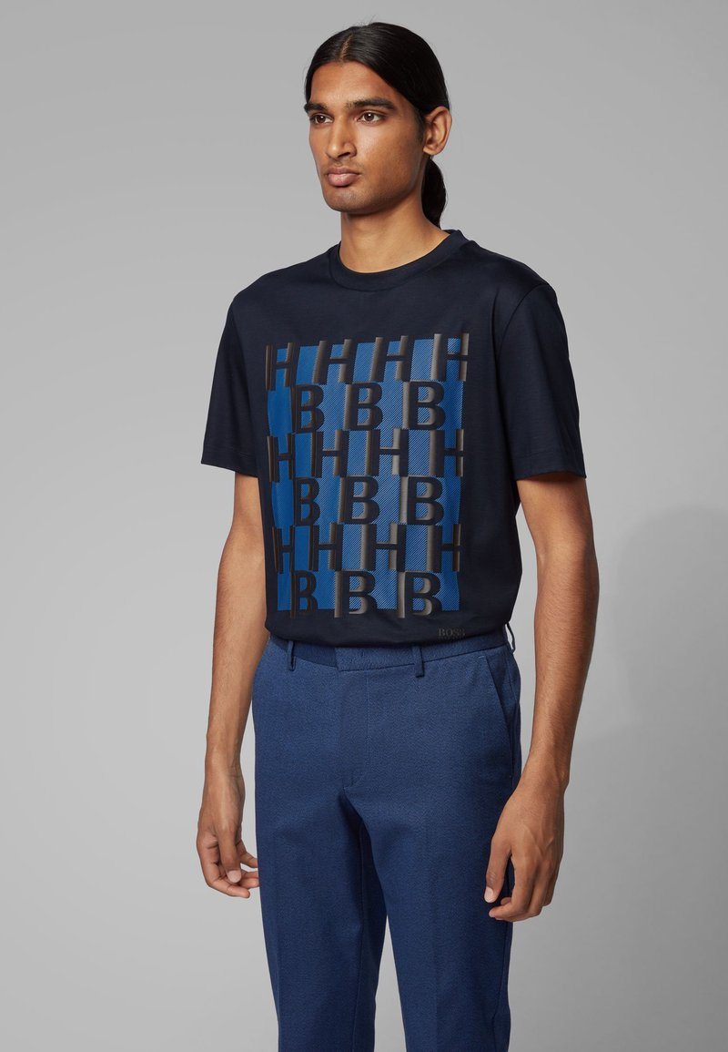 BOSS - TAMES - T-shirt print - dark blue