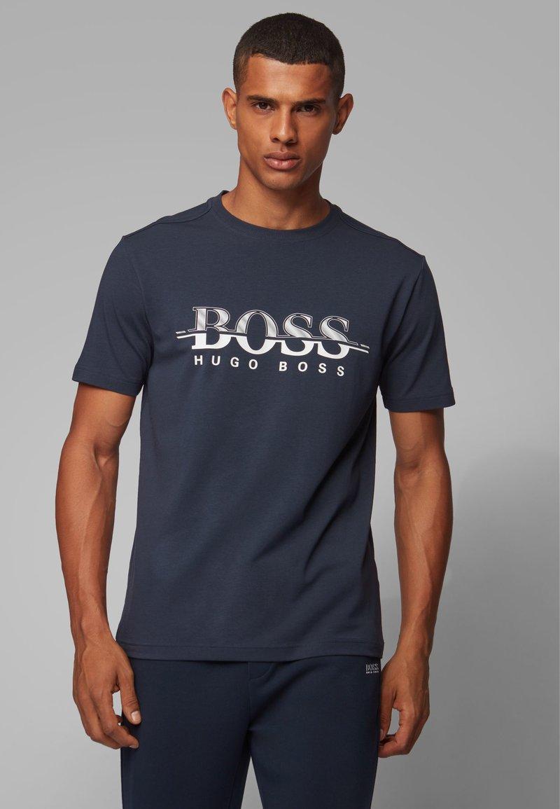 BOSS - TEE  - T-shirt print - dark blue