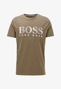 BOSS - T-SHIRT RN - T-shirt print - dark brown - 2