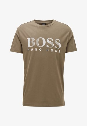 T-SHIRT RN - Print T-shirt - dark brown