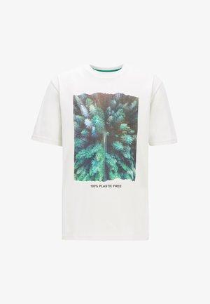 TFREE  - Print T-shirt - white