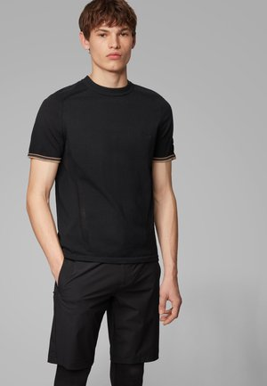 RYDON - Print T-shirt - black