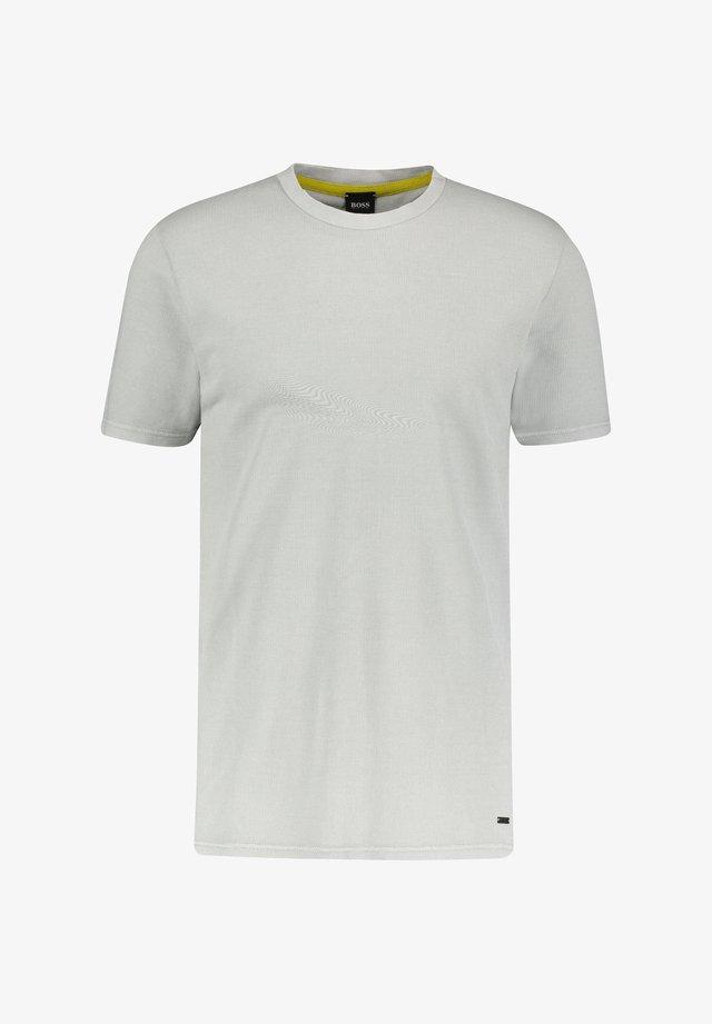 """BOSS HERREN T-SHIRT """"TASIK"""" - Basic T-shirt - silber (12)"""