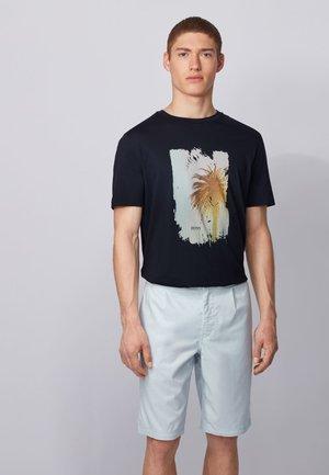 TMIX - Print T-shirt - Mottled Blue