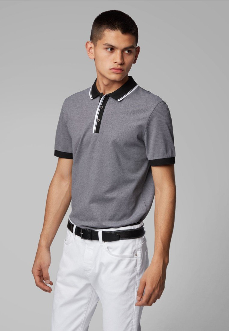 BOSS - PHILLIPSON - Polo shirt - black