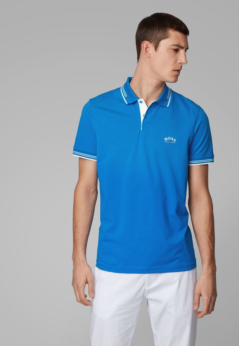 BOSS - PAUL CURVED - Poloshirts - blue
