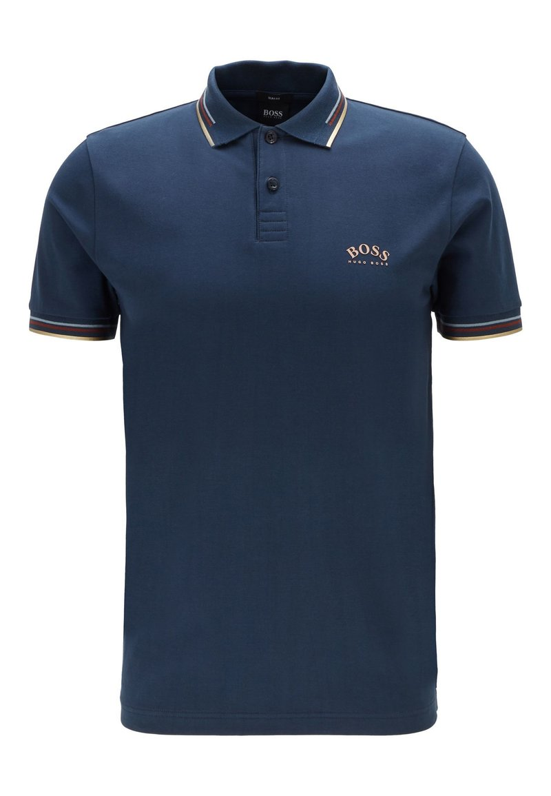 BOSS - PAUL CURVED - Polo shirt - dark blue