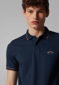 BOSS - PAUL CURVED - Polo shirt - dark blue - 4