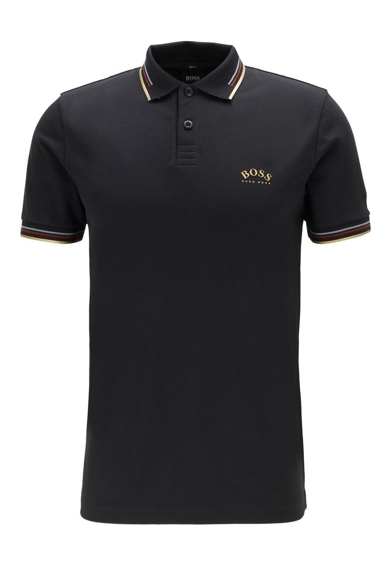 BOSS - PAUL CURVED - Polo shirt - anthracite