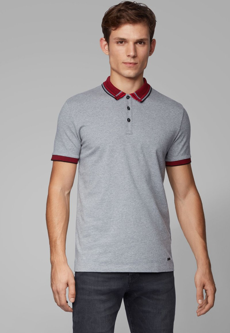 BOSS - PCHECK - Polo shirt - grey