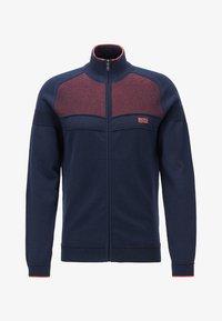 BOSS - ZAMOT - Zip-up hoodie - dark blue - 3