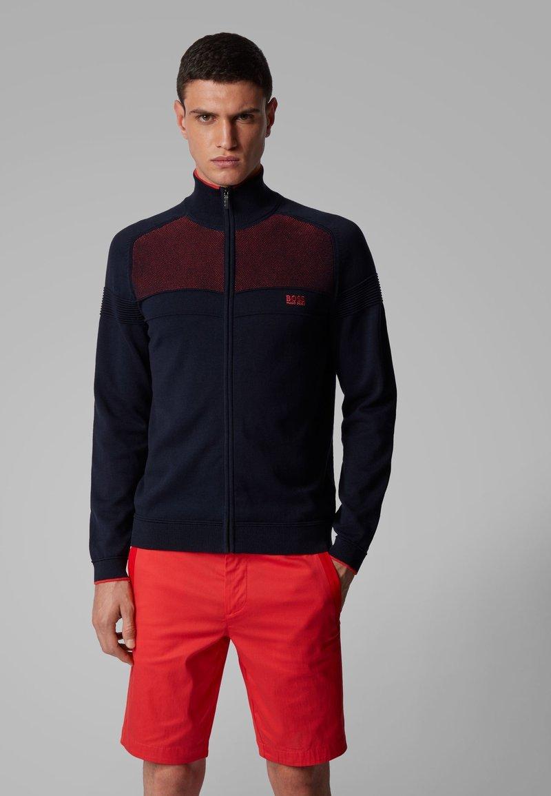 BOSS - ZAMOT - Zip-up hoodie - dark blue