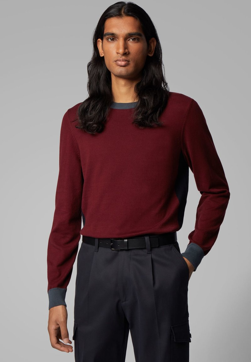 BOSS - GARNEO - Sweatshirt - dark red