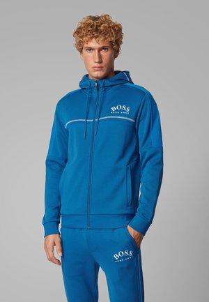 SAGGY - veste en sweat zippée - blue