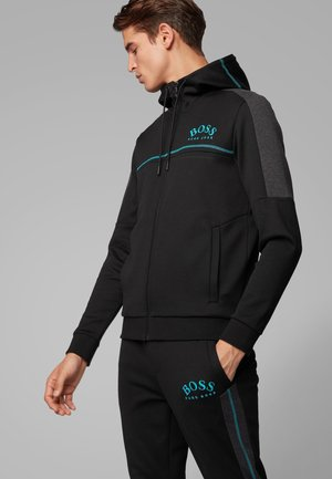 SAGGY - veste en sweat zippée - black