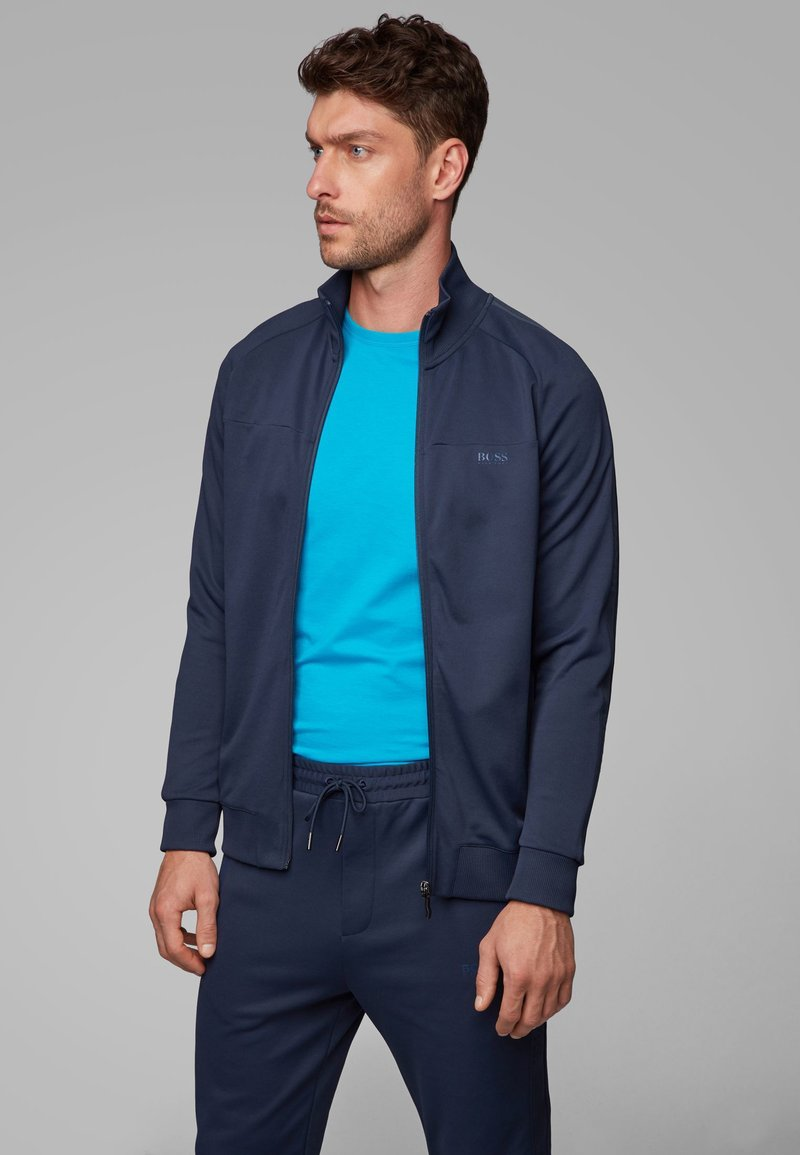BOSS - SKARLEY - veste en sweat zippée - dark blue
