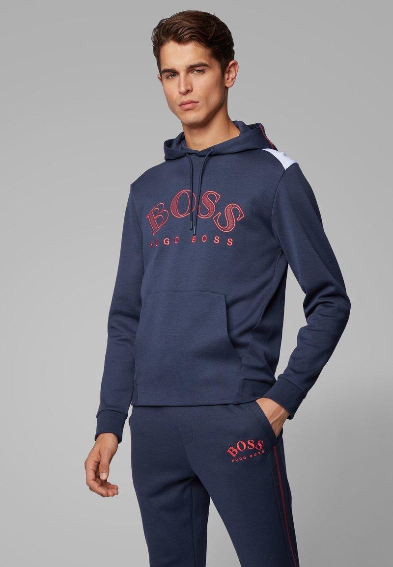 BOSS - SOODY - Felpa con cappuccio - dark blue