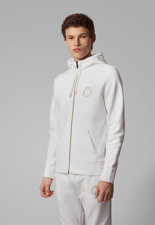 SAGGY CIRCLE - Zip-up hoodie - natural