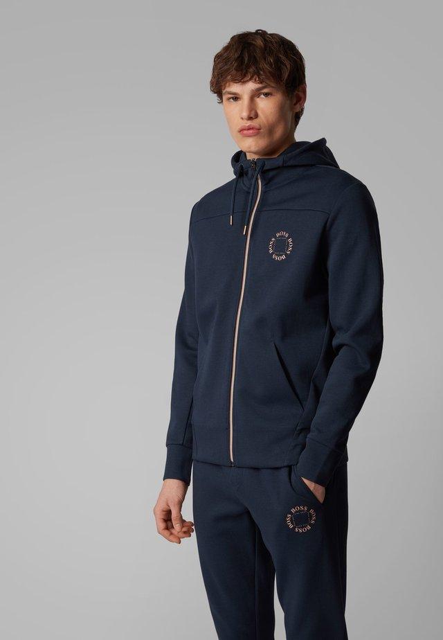 SAGGY CIRCLE - Zip-up hoodie - dark blue