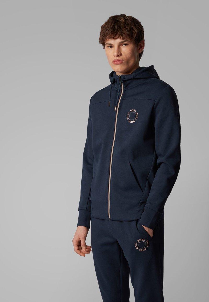 BOSS - SAGGY CIRCLE - Zip-up hoodie - dark blue