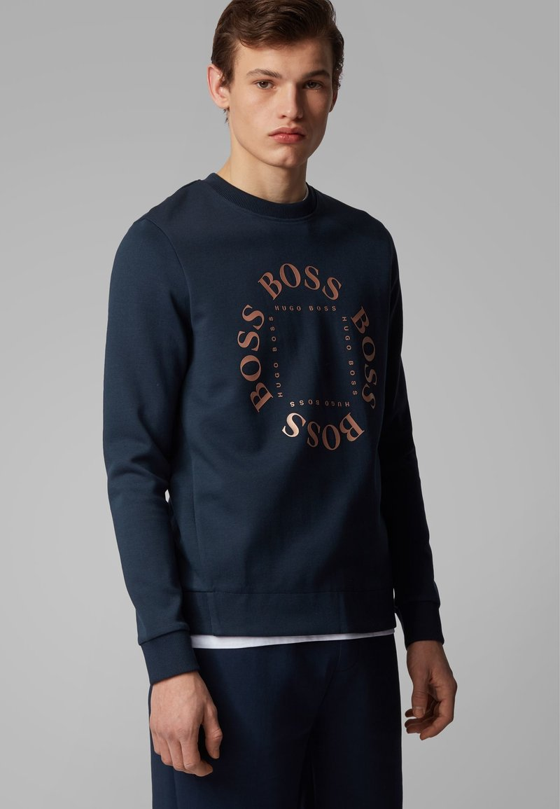 BOSS - SALBO CIRCLE - Sweatshirts - dark blue