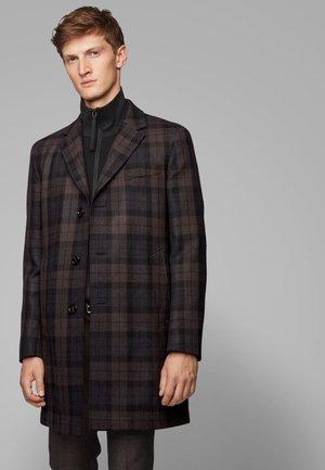 SHAWN - Classic coat - dark brown