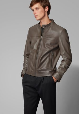 NARDI - Leather jacket - dark brown
