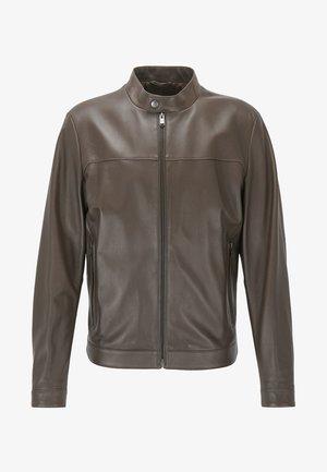 NARDI - Veste en cuir - dark brown