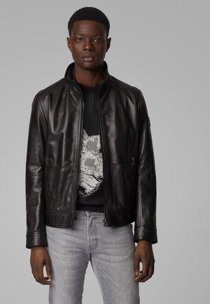 JOLES - Leren jas - black