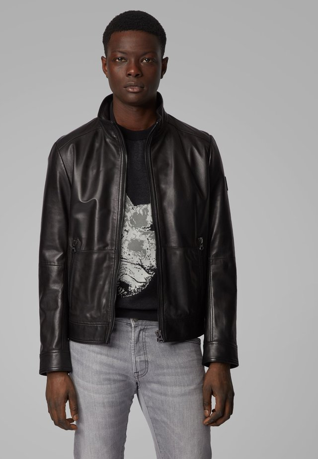 JOLES - Leather jacket - black
