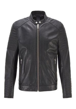 JORDON1 - Leather jacket - black