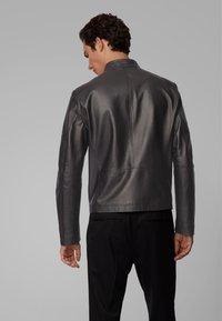 BOSS - NIDAN - Leather jacket - black - 2