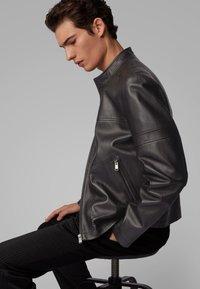 BOSS - NIDAN - Leather jacket - black - 3