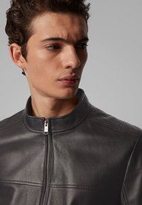 BOSS - NIDAN - Leather jacket - black - 4