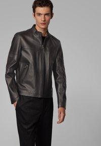 BOSS - NIDAN - Leather jacket - black - 0