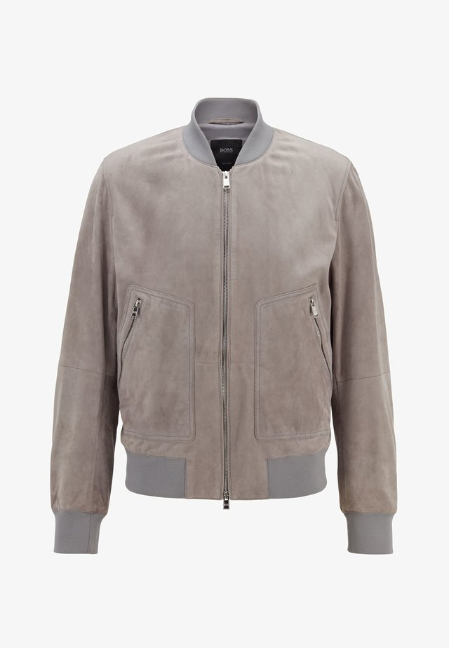 T-AKISON - Leather jacket - silver