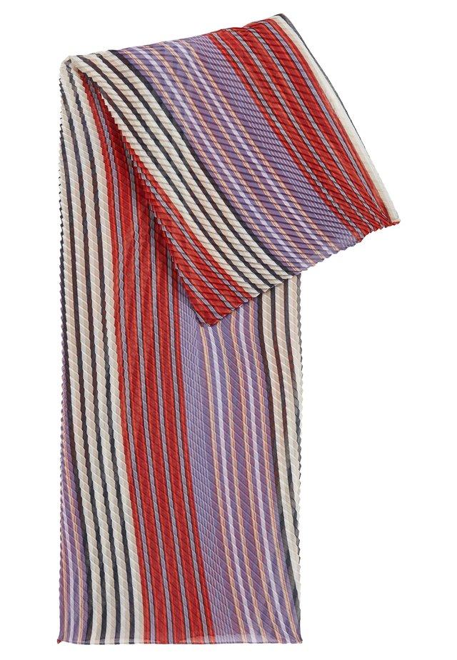 NAPLIS - Schal - red, white, purple