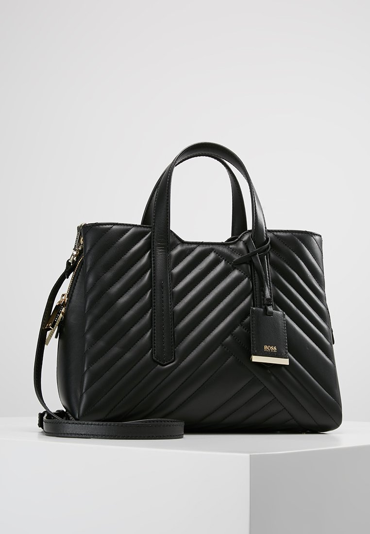 BOSS - TAYLOR SMALL TOTE IN QUILTED - Kabelka - black