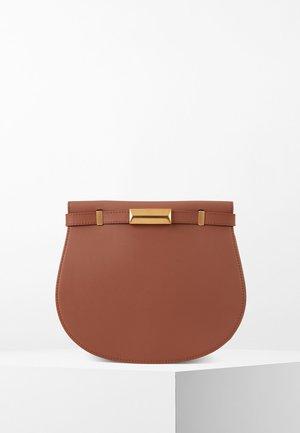 NATHALIE SADDLE-A - Across body bag - light brown