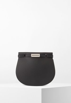 NATHALIE SADDLE-A - Schoudertas - black