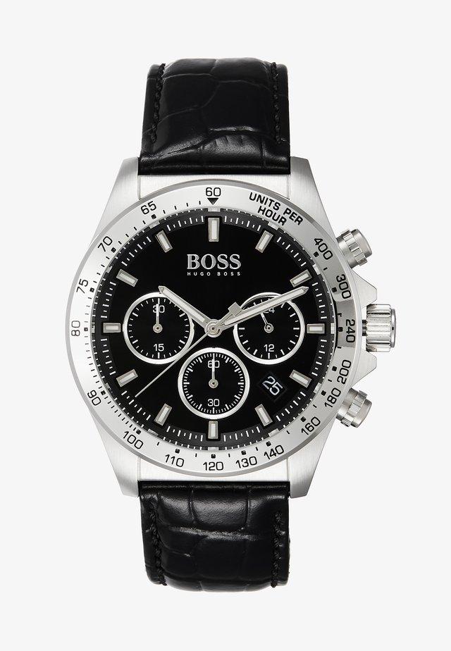 Chronograph watch - black/silver